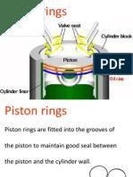 Piston Rings, Function, Material