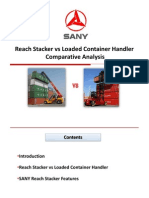 Reach Stacker vs Loaded Container Handler