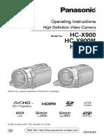 Càmera vídeo HC-x900 panasonic