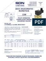Data Sheet No. 23.07 - 220 Solenoid Valve