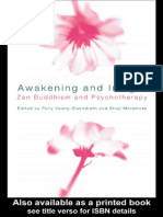 Awakening and Insight Zen Buddhism and Psychotherapy