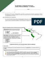 Guía CIVILIZACIONE PRECOLOMBIN - 6° B'ASICO - 2014