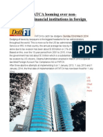 Beware US FATCA Looming Over Non-participating Financial Institutions in Foreign Countries