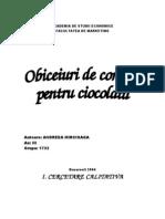 Www.aseonline.rocercetarea Preferintelor Consumatorilor Pentru Ciocolata