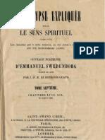 Em Swedenborg L'APOCALYPSE EXPLIQUEE TomeSeptieme Chapitres XVIIIetXIX Numeros 1090 1229 LeBoysDesGuays 1859 1861