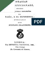 1821 - JOSÉ MARIA DANTAS FERREIRA - Fantasias constitucionais seguidas por alg refl da razao