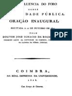 1808 - JOSE IGNACIO DA ROCHA PENIZ A felicidade pública