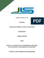 CICLO II Teologia en America Latina y El Salvador.