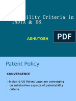 Patentability Criteria in INDIA & US .