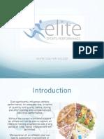 Nutrition for Soccer Presentation