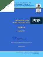 Examen CIAAC EGE-PCAF  (2010)