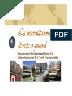 Lainconstitucionalidaddirectaogeneral Presentacion Para Mis Patojos de Clase