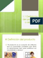 Definicion de Producto y Servicio