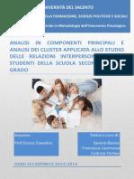 Analisi in Componenti Principali e Analisi Dei Cluster