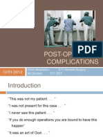 Post-Operative Complications Presentation