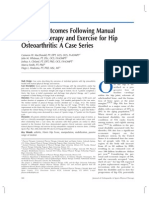 Clinical Outcomes Following Manual Physical Therapy and Exercise for Hip Osteoarthritis- A Case Series