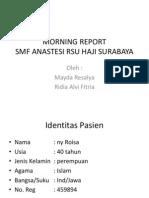 morning report anastesi