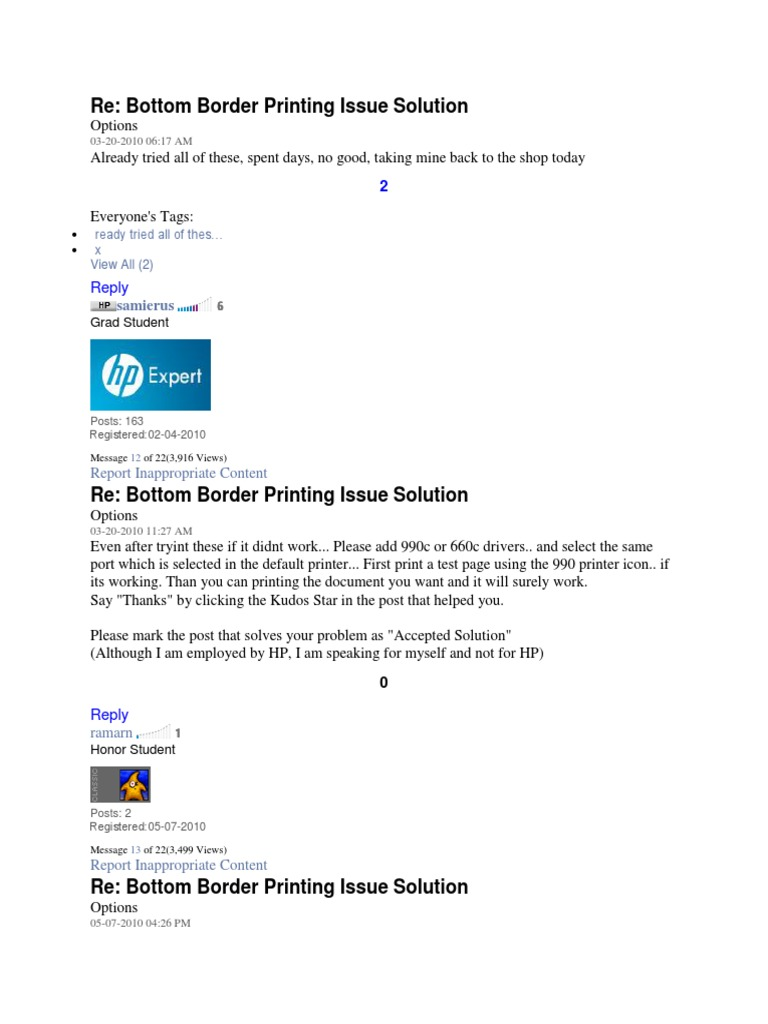 Re: Bottom Border Printing Issue Solution: Reply