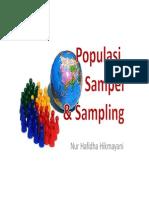 Populasi Sampel Sampling
