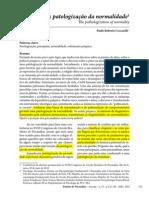 G2 PATOLOGIZAÇÃO DA NORMALIDADE