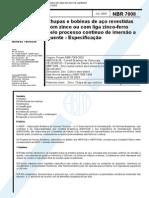 NBR 07008 - Chapas de Aco-carbono Zincadas Pelo Processo Continuo de Imersao a Quente