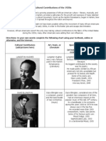 cultural contributions of the 1920s  2   1