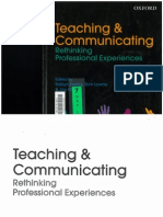 Teaching and Communicating- Rethinking Professional Experiences