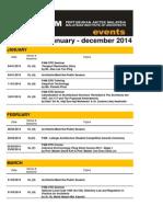 PAM 2014 Calendar Jan - Dec