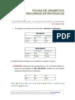 Ficha de gramática determinantes artículo definido e indefinido
