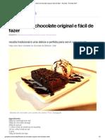 Brownie de chocolate original e fácil de fazer - Receitas - Receitas GNT