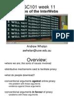DIGC101 Week 11 - Pirates of the Interwebs - Dr Andrew Whelan