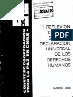 Comite Pro Paz - Reflexión sobre derechos humanos