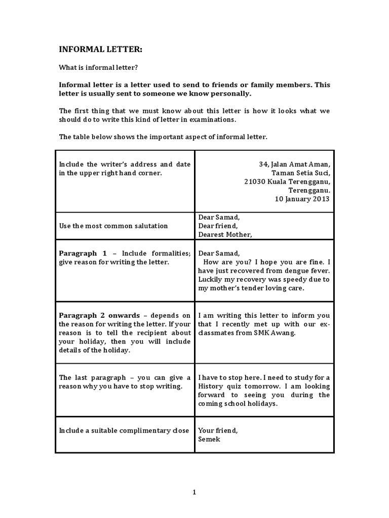Informal letter expocarfo