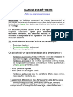 FONDATIONS DES BÂTIMENTS