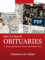 How to Search Obituaries e Book