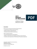 2013 Rotary Manual of Procedure