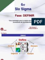 s2y3- Fase Definir 1 Six Sigma