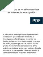 Estructura de Los Diferentes Tipos de Informe