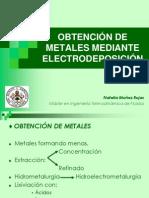 OBTENCIÓN DE METALES MEDIANTE ELECTRODEPOSITACIÓN