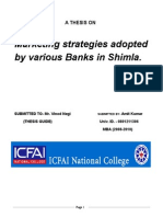 Marketing strategies adopted by various Banks in Shimla