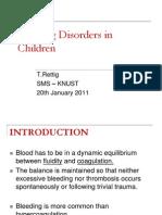 Bleeding in Children Sms