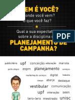 Aula 01 Planejamento de Campanha