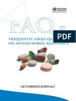 Frequently Asked Questions on Antimicrobial Resistance s