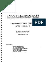 Liquid Penetrant (Lev1el-I-level - II''