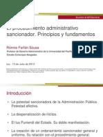13  julio Presentación Diplomado Procedimiento sancionador 13.7.13