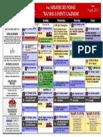 Training Calendar March 2014 Final