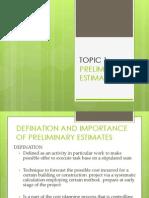preliminaryestimate