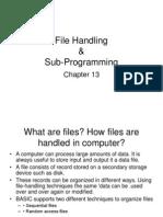 sub-programing and file handling