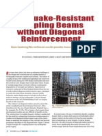 EW Resistant Coupling Beams