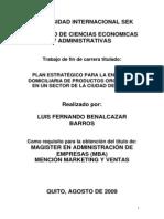 Plan Estrategico Para La Entrega Domiciliaria de Productos Organicos
